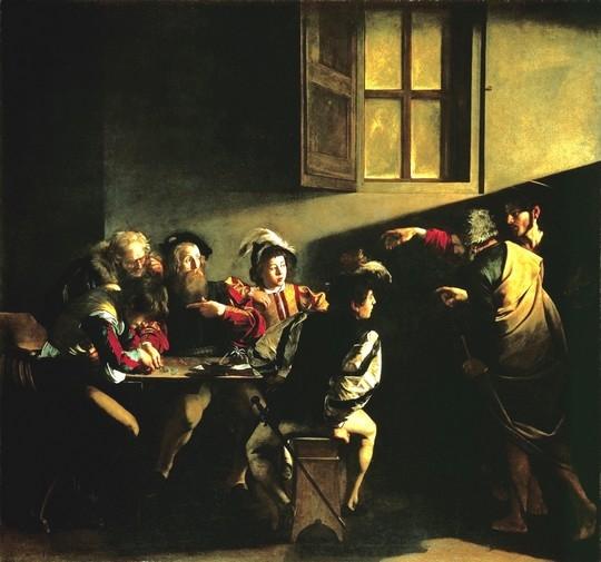 Caravaggio_-_La_vocazione_di_San_Matteo11