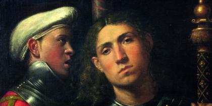 Attr. GiorgioneGuerriero con Scudiero detto il GattamellaINV.1890 N.911