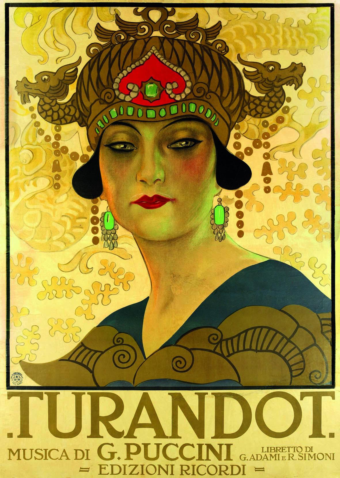 Leopoldo Metlicovitz, Turandot, 1926, litografia a colori. Milano, Archivio Storico Ricordi