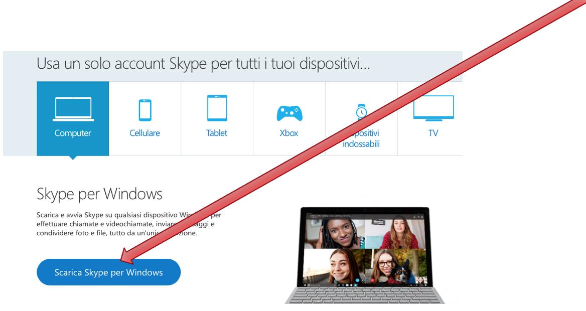 scaricare skype gratis sul pc
